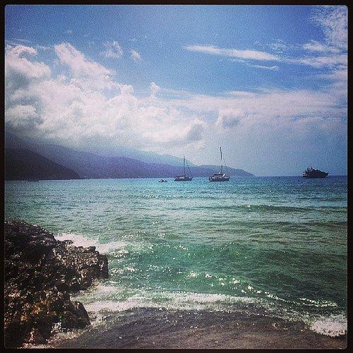 Welcome to Paradise. Pohled na Ligurské moře z ostrova Elba. Foto: Lukáš Polák