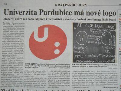 Článek o logu Univerzity Pardubice