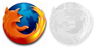 Logo Firefoxu v ASCII
