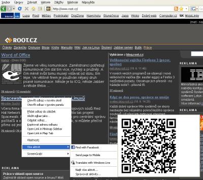 Activities ve Firefoxu