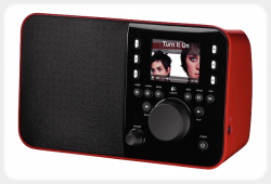 Logitech Squzeebox Radio Red