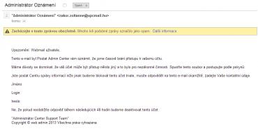 Velmi nenápadný phishing. Pokud na tohle někdo naletí, tak si to snad i zaslouží.