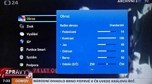 Takhle by mělo vypadat základní obrazové nastavení. Samsung v tomto ohledu patří mezi nejlepší!