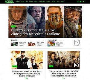 Náhled nové podoby webových stránek stanice Prima Cool. Obrázek lze kliknutím zvětšit.