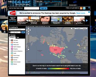 The DealMap: teplotní mapa, kde je nabídkám nejvíce horko...