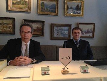 Vladimír Staňura a Jiří Šedivý na tiskové konferenci AČSS