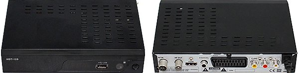 Přední a zadní panel přijímače TBS T210