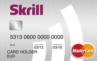 Současná podoba předplacené karty Skrill