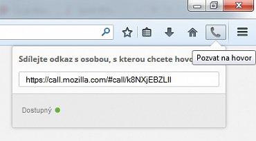Videohovor v Firefoxu 33 Beta