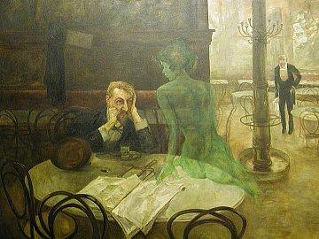Viktor Oliva: Piják absintu