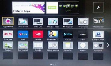 Seznam aplikací na tlačítku Apps. Další naleznete pod ikonou Apps Market a hned vedle je tzv. Screen Market. V něm jsou pak dodatečné varianty domovských obrazovek.