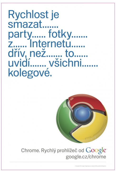 Reklama na Google Chrome - prvn varianta