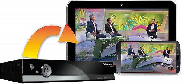 Big2Small umožňuje streamování televizních programů z přijímače do vašeho mobilního telefonu nebo tabletu.
