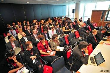 Auditorium China Investment Forum během přednášky pana Kaiser Kuo