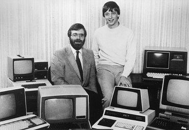 Bill Gates a Paul Allen - archivní fotografie z roku 1981