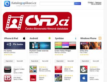 Katalog Aplikací a jeho titulní stránka