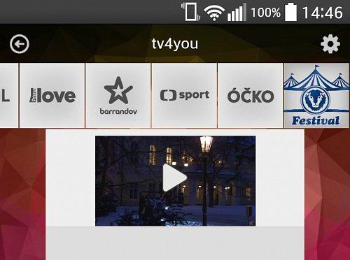 Festival je možné najít mezi dalšími volně šířenými stanicemi dostupnými v rámci aplikace TV4You