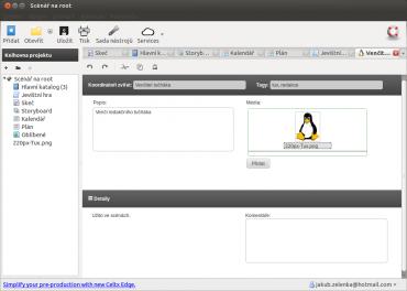 Obrázky softwaru Celtx