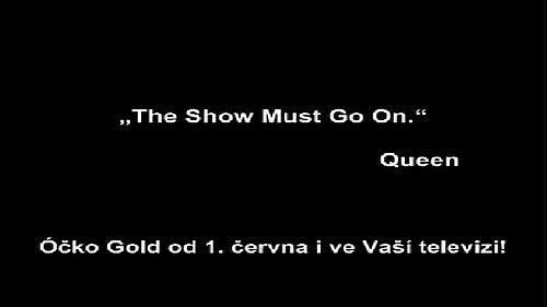 Sdělení Óčka Gold, které vidí divák na obrazovce po naladění kanálu.