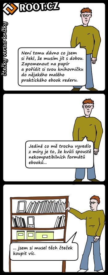 Čtečky versus knížky