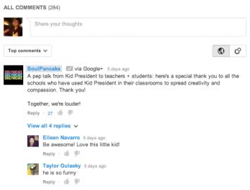 Komentáře na YouTube využijí Google+