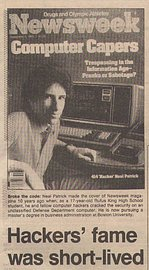 Obálka časopisu Newsweek (zde na výstřižku z článku v Milwaukee Sentinel z roku 1993) s Nealem Patrickem.