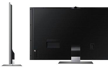 Díky elegantním křivkám není problém umístit televizor do prostoru a tohle návrháři určitě zvládli na výbornou!