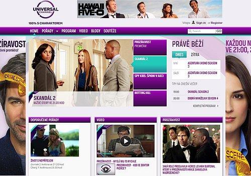 Nové webové stránky tématického kanálu Universal Channel