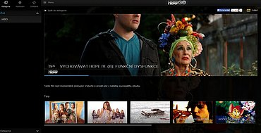 Některé pořady dostupné na HBO GO nemusejí jít v rámci lineárního streamingu přehrát.