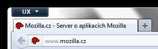 Firefox buse skrývat Vpřed 1