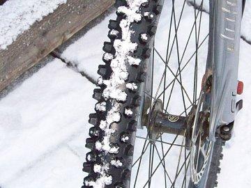 kolo, sníh, cyklistika
