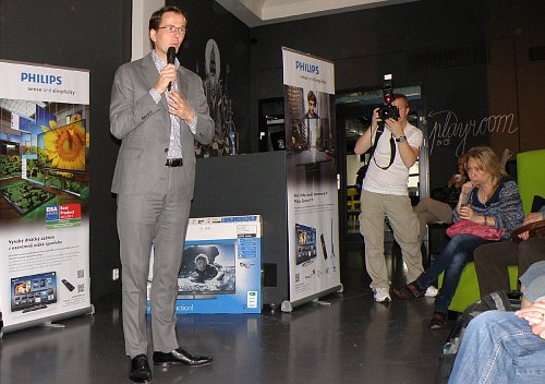 Martinj Smelt, ředitel TP Vision pro Střední a Východní Evropu při úvodní prezentaci.