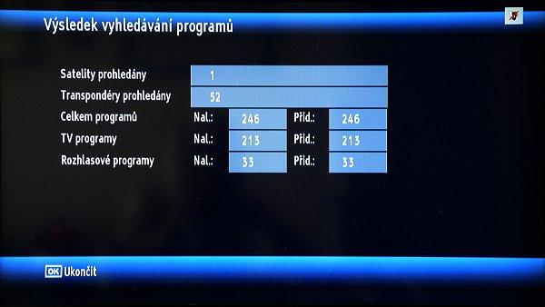 Po instalaci a uložení programů se zobrazí okno s výsledky vyhledávání.