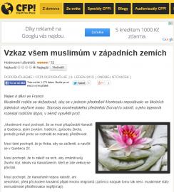 Czech Free Press si vymýšlí zprávy. Co víc k něčemu tak ubohému dodat.