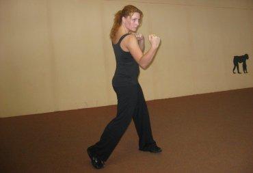 Dynamické posilování při kick boxu