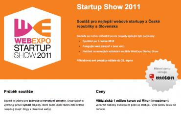 Příslib milionové investice patřil mezi hlavní lákadla letošní Startup Show