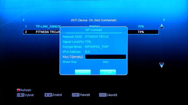 Vyhledávání WiFi sítí