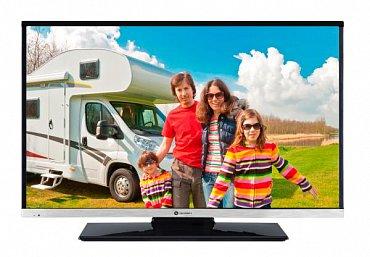 I když jde o levný televizor, nevypadá vůbec špatně. Spodní stříbrná lišta a užší rámečky po bocích mu dodávají šmrnc.