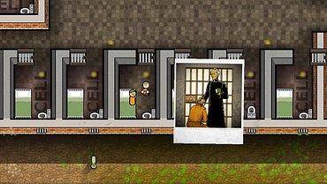 Obrázky ze hry Prison Architect.