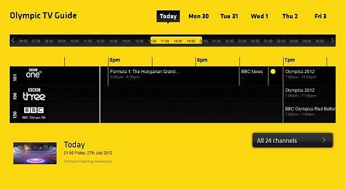 Pro lepší orientaci může posloužit zájemcům speciální programový průvodce na internetové adrese: http://www.freesat.co.uk/bbc-olympics1
