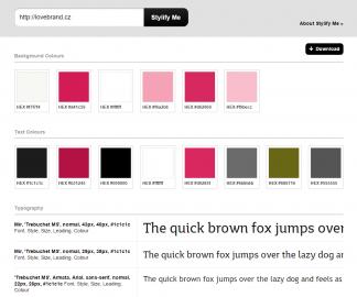 Zadáte adresu a rychle získáte přehled o tom, jaké barvy používáte