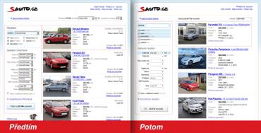 Sauto.cz 2011 a 2012: před a po změně