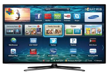 Chytrý televizor Samsung.