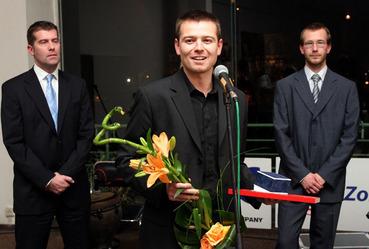 Jakub Unger přebírá Křišťálovou Lupu za Projekt roku 2006