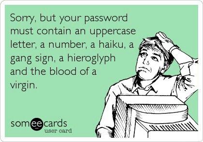 Složité požadavky na hesla jsou léta tématem řady vtipů.