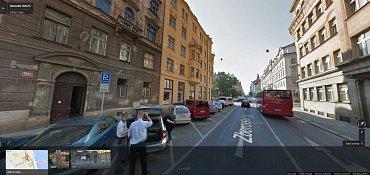 Pražská Zborovská ulice v podání Google Street View.