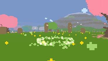 Obrázky z hraní hry Proteus.