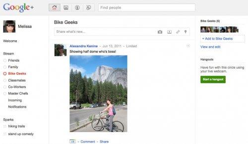 Proudy zpráv vašich přátel a jejich rozdělení na Kruhy v Google Plus - a také lehký design.