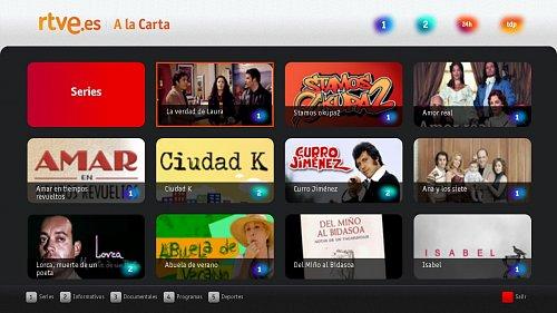 Ukázka z hybridního širokopásmového vysílání španělské veřejnoprávní televize rtve.