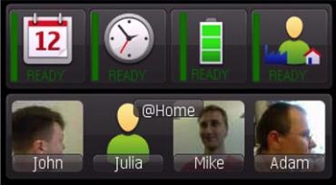 Nokia Bots - právě jste doma a tak kontakty, které se vám nabízejí, jsou ty, které běžně z domova voláte.
